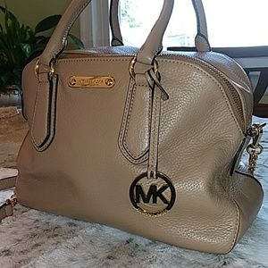 Michael Kors taupe leather bag